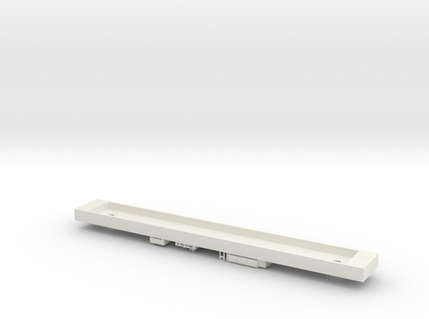 X'trapolis Tp Car Dummy Chassis - N Scale in White Strong & Flexible