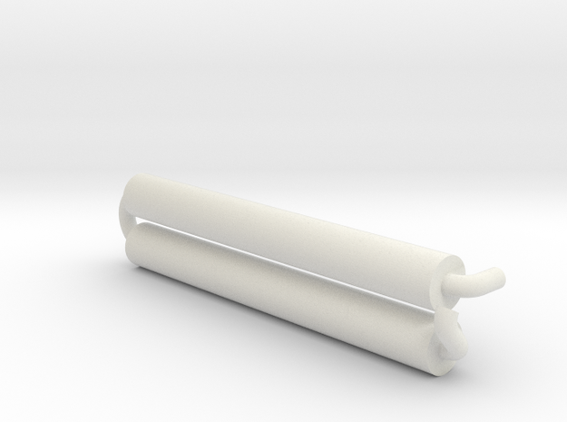 Sd.Ah 24 Exhaust 1:16 in White Natural Versatile Plastic