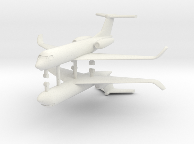 1/250 Low Detail G550 Gulfstream (x2) in White Strong & Flexible