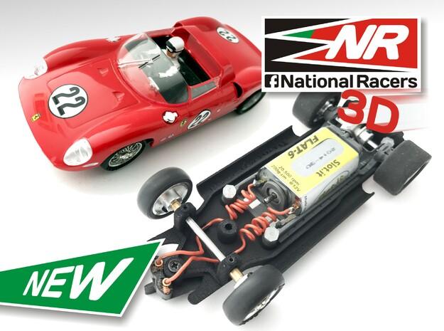 3D Chassis - Monogram Ferrari 275 - Inline in Black Strong & Flexible
