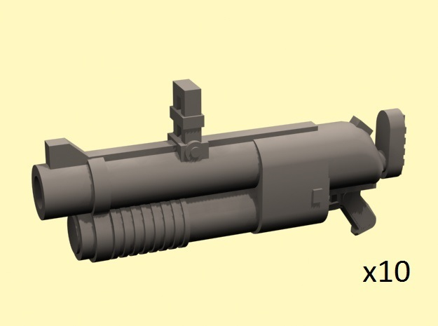 28mm grenade hand launchers in Smoothest Fine Detail Plastic