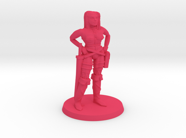 Thicker Pirate Lass in Pink Processed Versatile Plastic