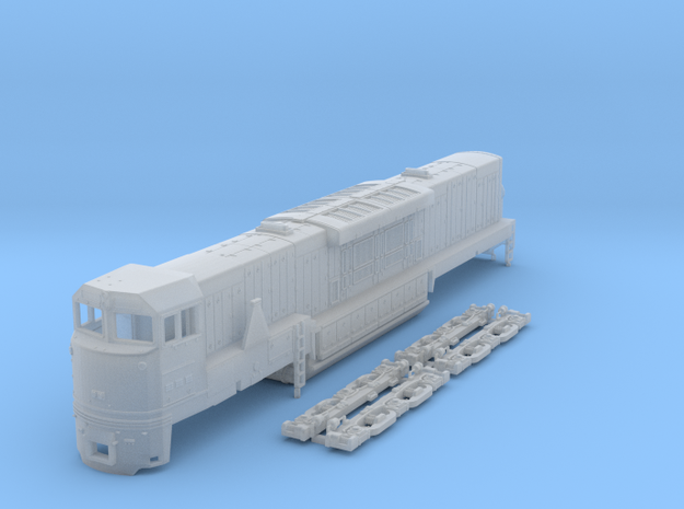 N Scale U50c locomotive in Smooth Fine Detail Plastic