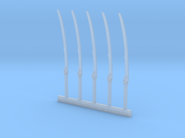 Mk2 - Techno-Nodachi (x5) in Smooth Fine Detail Plastic