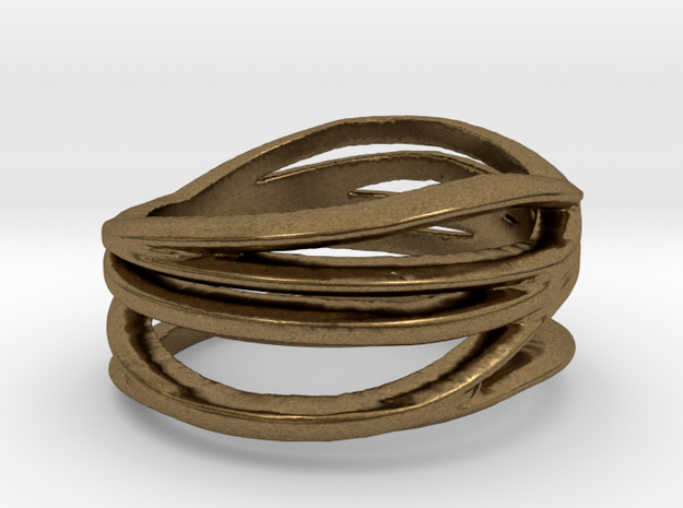 My Awesome Ring Design Ring Size 7.5 in Natural Bronze
