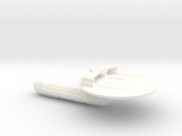 Terran Barbarossa Class Strike Destroyer - 1:7000 in White Strong & Flexible Polished