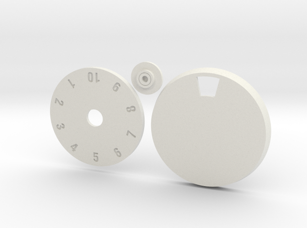 32mm Round Wound Tracking Base in White Natural Versatile Plastic