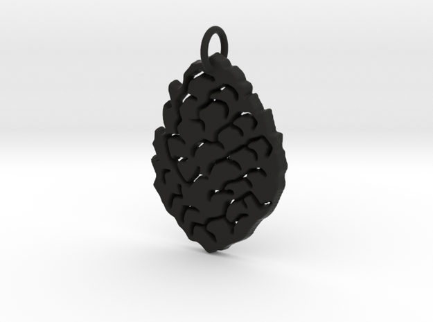 Leaf Pendant in Black Natural Versatile Plastic