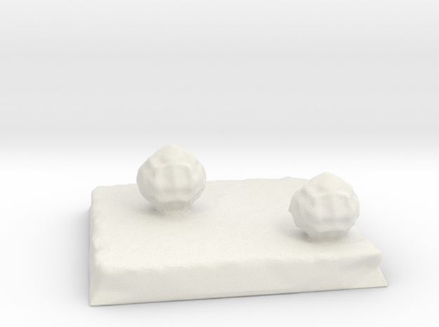 Terrain 2in square with Bushes in White Natural Versatile Plastic