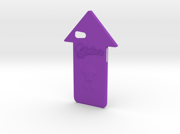 Iphone 7 Splatoon Squid Case in Purple Strong & Flexible Polished