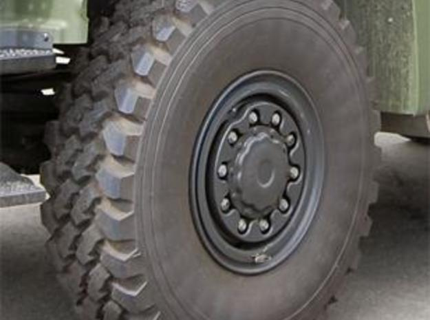 Rim for military truck tire (front wheels) 3d printed The front wheel of a MAN military truck