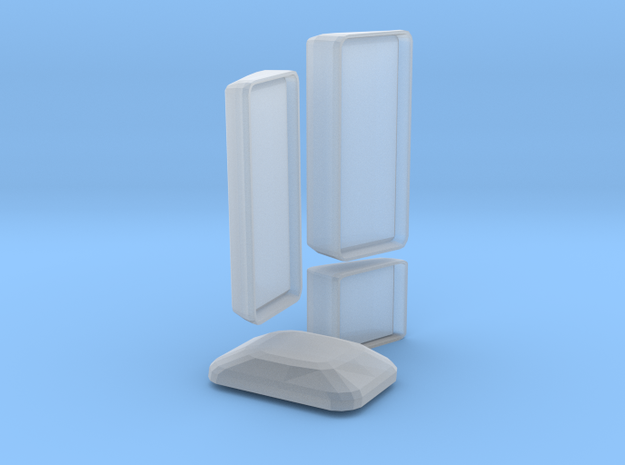 MAN F2000 Silent Body Mirrors in Smooth Fine Detail Plastic