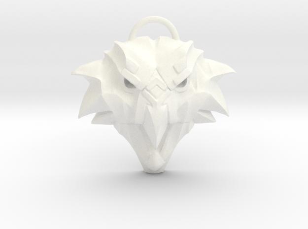 The Witcher: Griffin school medallion (plastic) in White Processed Versatile Plastic