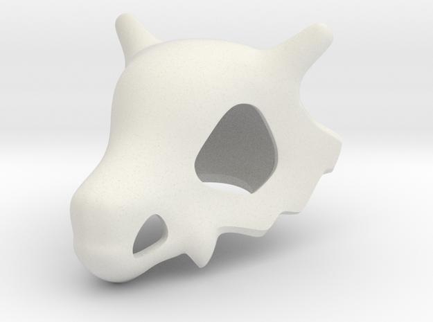 Cubone Skull in White Strong & Flexible