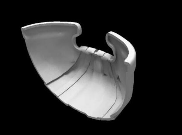 Rekki-Maru Scabbard Tip 3d printed back