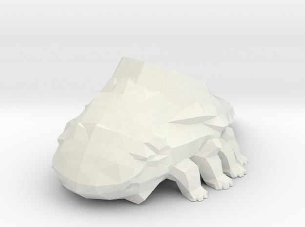 Crystal Titanite Lizard in White Natural Versatile Plastic