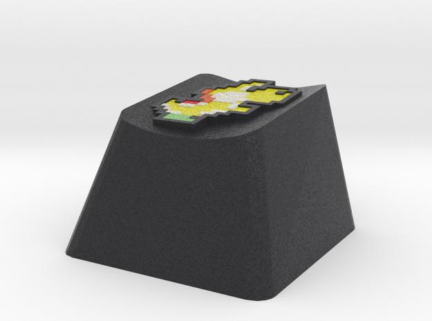 Yellow Yoshi Cherry MX keyboard keycap in Full Color Sandstone