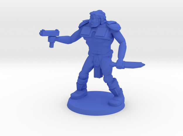 Head Raider Drokk  in Blue Processed Versatile Plastic