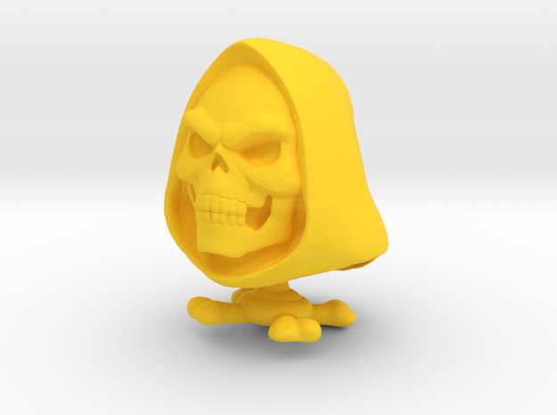 Bonehead Sculpture in Yellow Strong & Flexible Polished