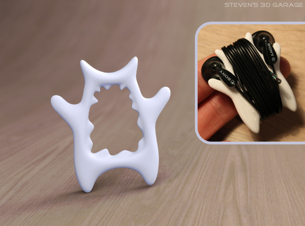 MP3 Cable Winder Guy (Type D) 3d printed