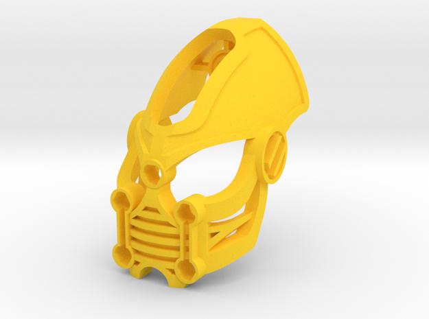 Kanohi Ishaku in Yellow Processed Versatile Plastic