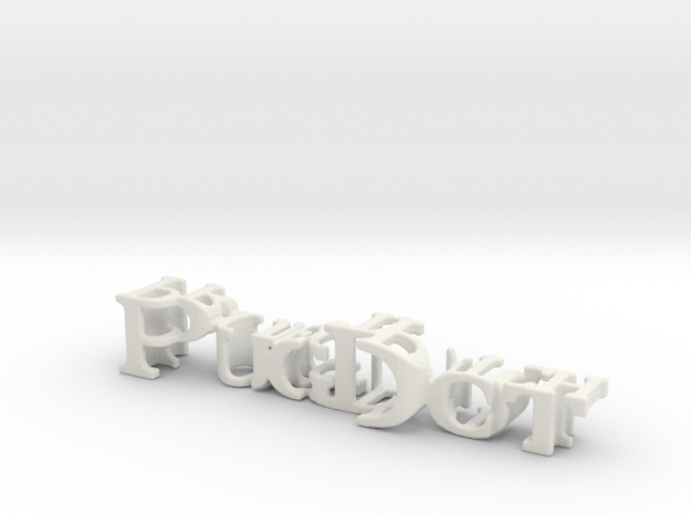 3dWordFlip: PugDot/Project Pitch in White Natural Versatile Plastic