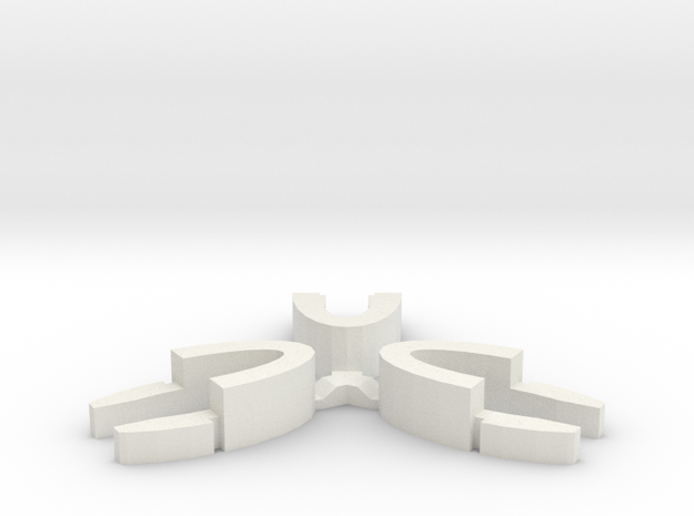 Set of 3 - Globe clamp (Massive armatures) in White Natural Versatile Plastic