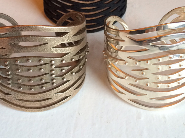 Crisscross Cuff in Polished Brass