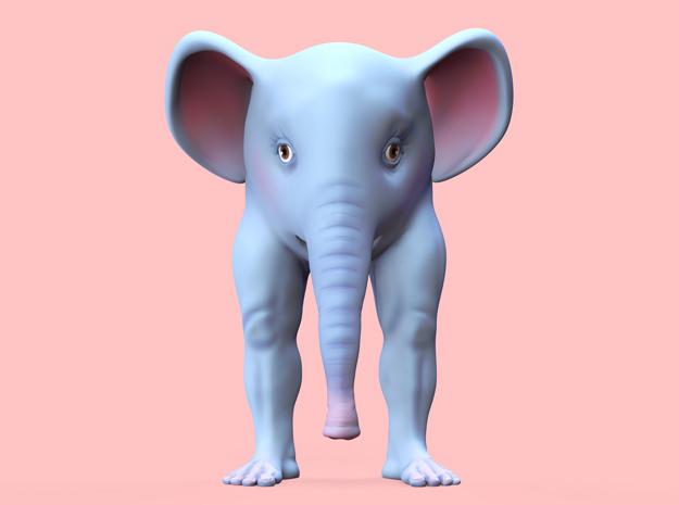 The Bipedal Elephant in Full Color Sandstone