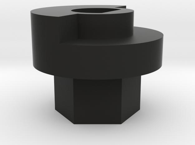 Futaba 4PL Steering Wheel Adapter - 12mm Hex in Black Strong & Flexible