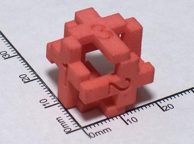 Cross D6 Die in White Natural Versatile Plastic