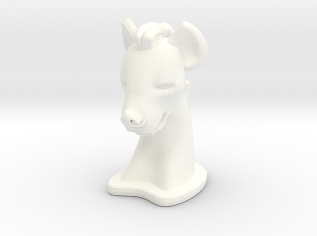 Hyena SMALL in White Processed Versatile Plastic