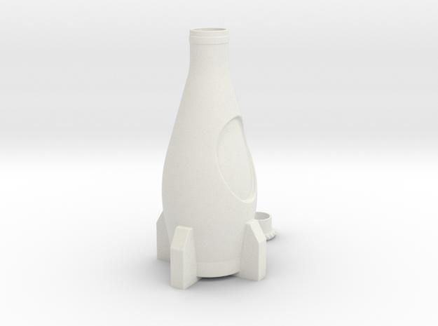 Nuka Cola Bottle in White Natural Versatile Plastic