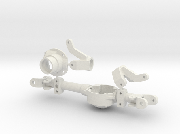DANA 30 axle with VATERRA GCM 170  in White Natural Versatile Plastic