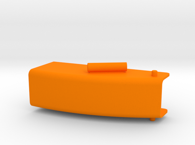 Auswurfkamin 25mm breit  in Orange Strong & Flexible Polished