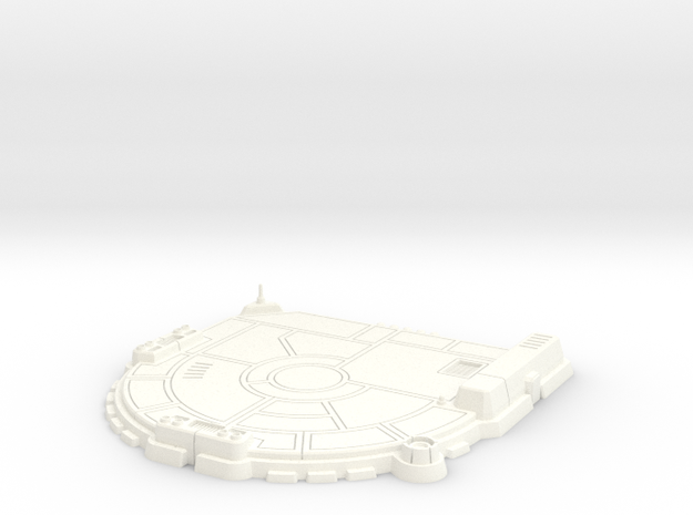 1/270 Rebel Landing Pad in White Processed Versatile Plastic