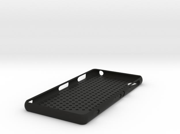 Sony Xperia Z3 case - tilted squares in Black Natural Versatile Plastic