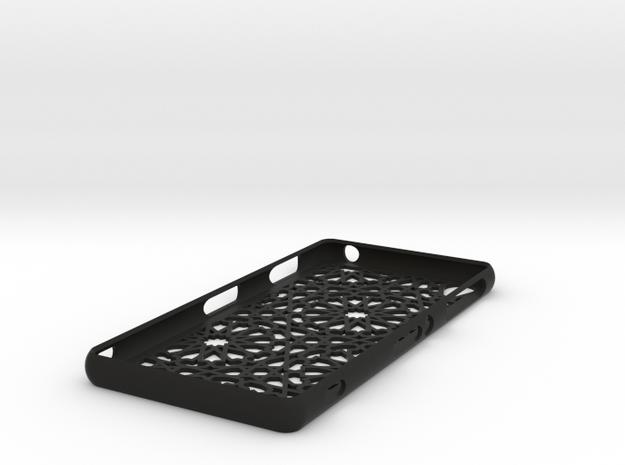 Sony Xperia Z3 case - Moroccan pattern in Black Natural Versatile Plastic