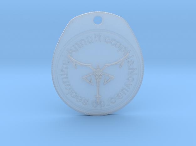Resident Evil 4: Los Illuminados medal in Smooth Fine Detail Plastic