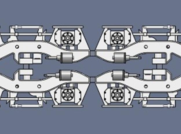 HO Flexicoil C2H sideframes for Bachmann SD40-2 3d printed