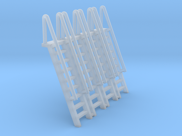 N Scale Ladder 9 (4pc) in Smooth Fine Detail Plastic