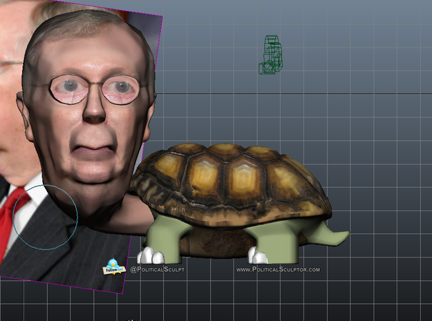 Sen.Mitch McConnell (R-Ky.) Turtle Inaction Figure 3d printed