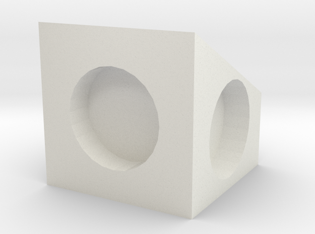MPConnector - 90 degree Block 1 in White Strong & Flexible