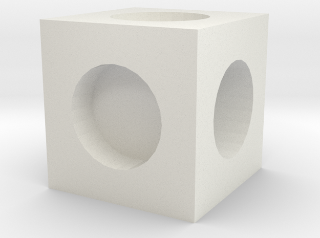MPConnector - Connector Block 1 in White Strong & Flexible