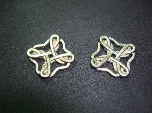 Friendship knot earrings 3d printed Face high