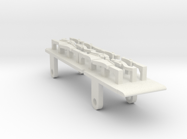 7mm FR D1, E1 & Cambrian SPC Tender - 0 Chassis in White Natural Versatile Plastic