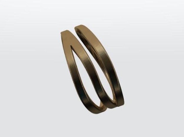 Wave ring in Natural Bronze: 9 / 59