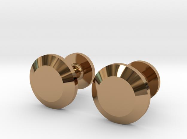 Milnerfield Faraday Cufflinks - Pair in Polished Brass