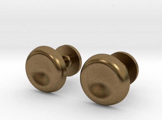 Milnerfield Turing Cufflinks - Pair in Raw Bronze
