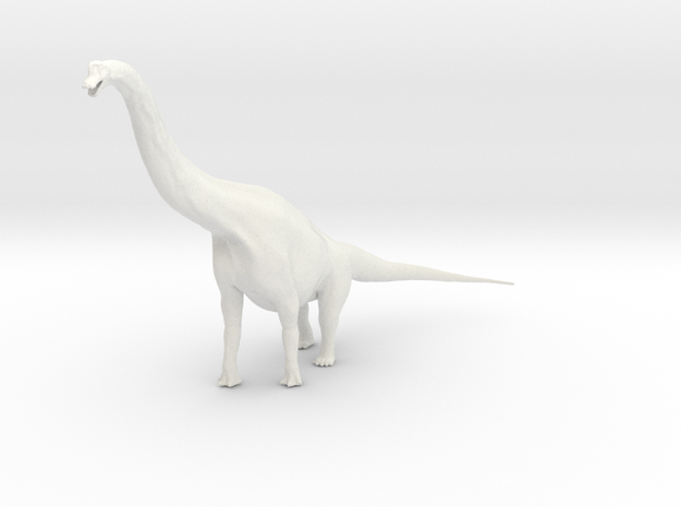 Brachiosaurus in White Strong & Flexible: 1:144